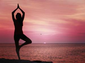 Yoga pose left